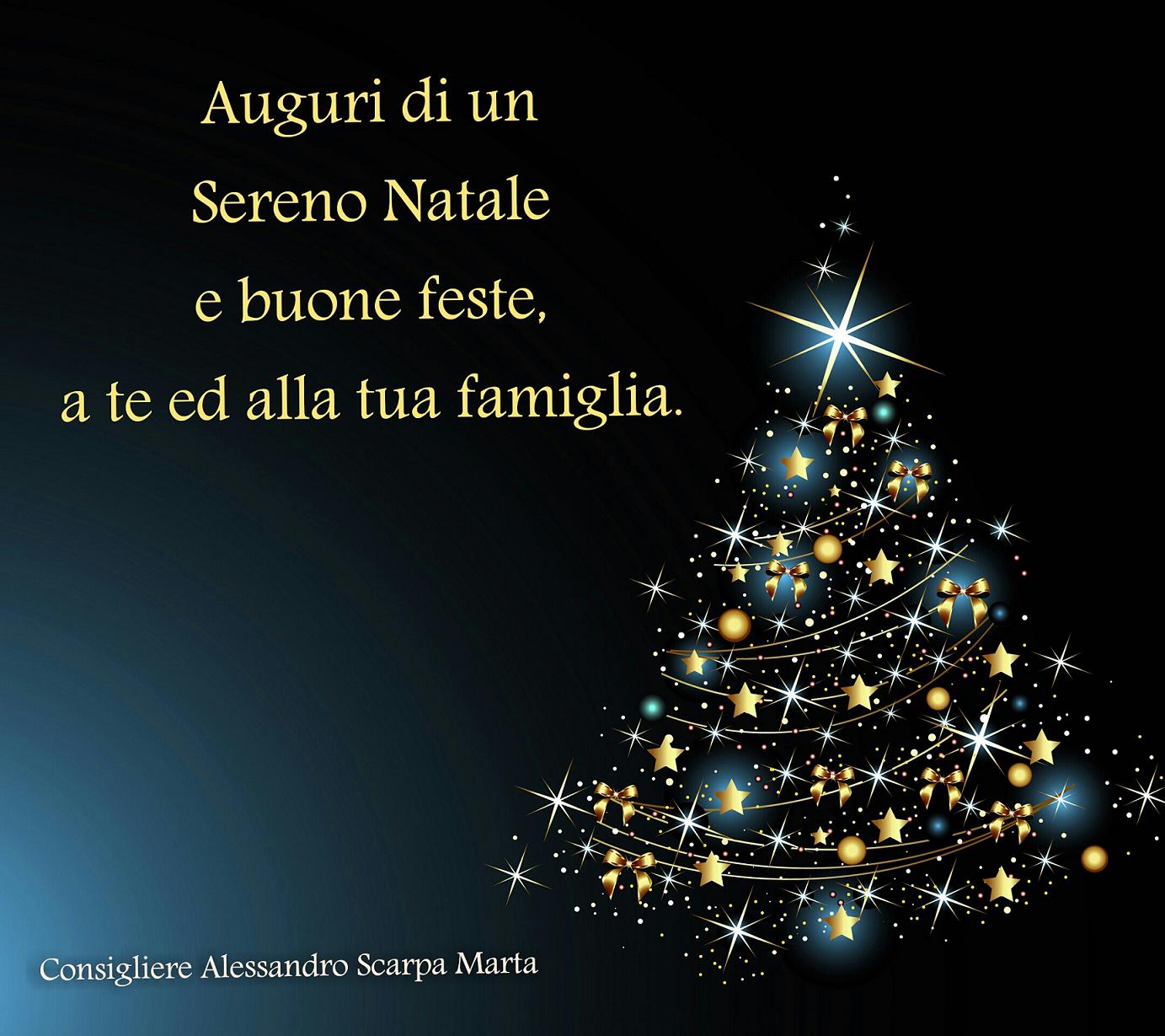 Auguri Di Buon Natale Alla Famiglia.Buon Natale A Tutti Voi Alessandro Scarpa Marta
